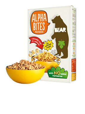 BEAR crunchy cereal letters (available in 2 tasty recipes)